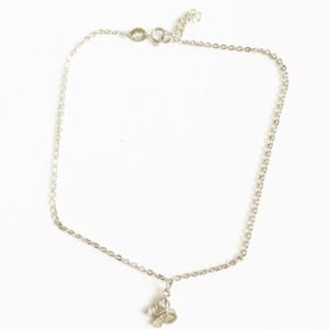 Jewelry - .925 Sterling Silver Butterfly Anklet 9-10 inches